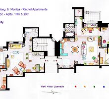 Floorplan of Friends Apartment (Old version) by Iñaki Aliste Lizarralde
