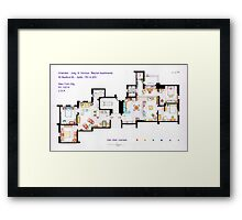 Floorplan of Friends Apartment (Old version) Framed Print