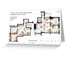 Floorplan of Friends Apartment (Old version) Greeting Card