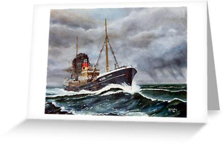 Gun Running Trawler WW2  by Woodie