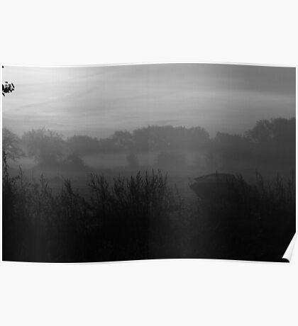 Boat in the Mist Poster