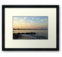 Aarhus at the end of the first day Framed Print
