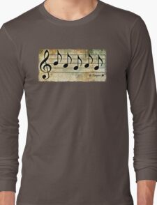 PAGAN - Words in Music Earth Tones Background - V-Note Creations Long Sleeve T-Shirt