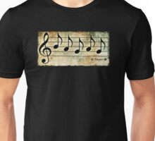 PAGAN - Words in Music Earth Tones Background - V-Note Creations Unisex T-Shirt