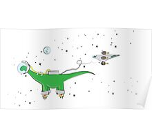 Sauropod in Space Poster