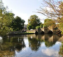 Bakewell Bridge and The River Wye by Rod Johnson