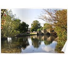Bakewell Bridge and The River Wye Poster