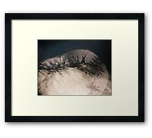 The shadow is there Framed Print
