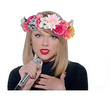 taylor swift with a flower crown by dibbledabbles