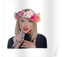 taylor swift with a flower crown Poster