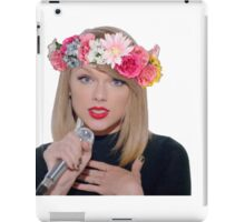taylor swift with a flower crown iPad Case/Skin