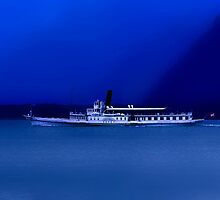 Paddle Steamer.........Lake Geneva........Switzerland by Imi Koetz