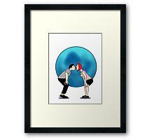 Kiss me under the blue moon Framed Print