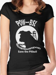 POW BSL Save the Pitbull Women's Fitted Scoop T-Shirt