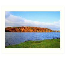 Lake Decatur, Decatur IL Art Print