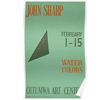 WPA United States Government Work Project Administration Poster 0563 John Sharp Exhibition Water Colors Poster