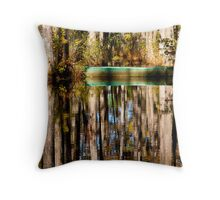 Reflections in Cypress Garden Throw Pillow