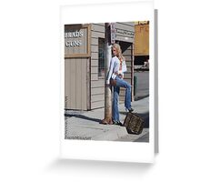 Girls with Guns Greeting Card