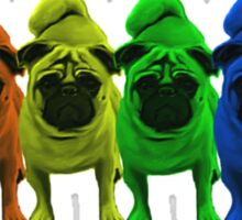 Rainbow Pride Pugs Sticker