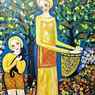 """"""" Picking loquats"""" by catherine walker"""