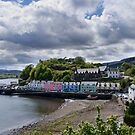 Portree on a cloudy day by Claire Tennant