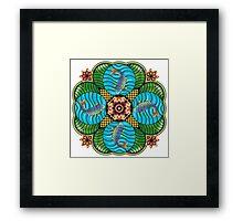 Japanese Carp Mandala Framed Print