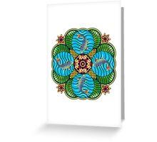 Japanese Carp Mandala Greeting Card