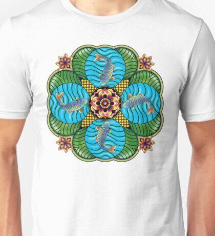 Japanese Carp Mandala Unisex T-Shirt