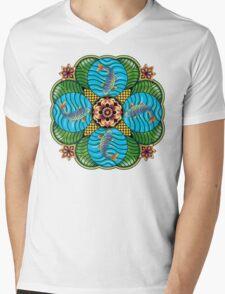 Japanese Carp Mandala Mens V-Neck T-Shirt