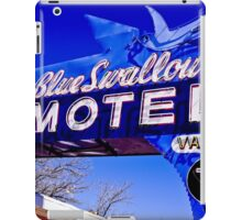 Blue Swallow Motel Neon Sign iPad Case/Skin