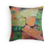 """Summer peppers"" Throw Pillow"