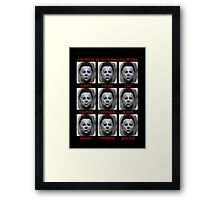 The Many Faces Of Michael Myers (Halloween) Framed Print