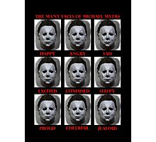 The Many Faces Of Michael Myers (Halloween) Photographic Print