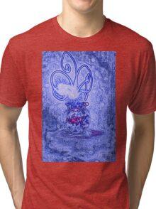 Vase with light flower - blue Tri-blend T-Shirt