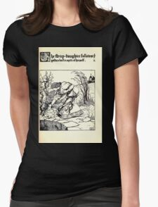 The Wonder Clock Howard Pyle 1915 0175 The Step Daughter Follows Golden Ball Womens Fitted T-Shirt