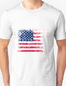 American flag with snowflakes grunge T-Shirt