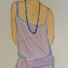 The 20s flapper with beaded necklace  by patjila