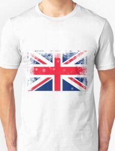 British Union Jack  flag with snowflakes grunge T-Shirt