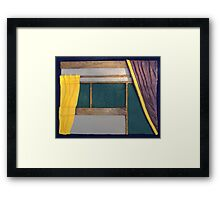Curtain Framed Print