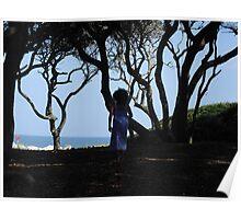Precious Girl on a Fall Beach Day Poster