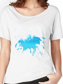 Water splash Women's Relaxed Fit T-Shirt