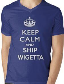 KEEP CALM AND SHIP WIGETTA Mens V-Neck T-Shirt