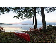 Red OldTown Canoe - Crystal Lake Photographic Print