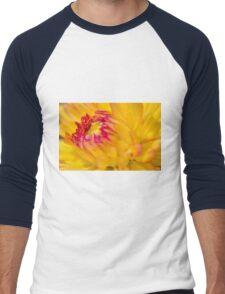 Yellow Dahlia Men's Baseball ¾ T-Shirt