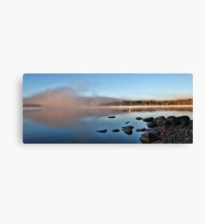 Fall At Crystal Lake - Mist Rising Canvas Print