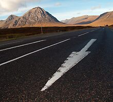 The road to Glencoe, Scotland, UK by Rob  Ford