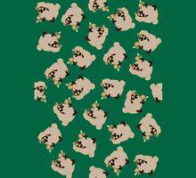 Cartoon Silly blackface Sheep eating flowers Unisex T-Shirt