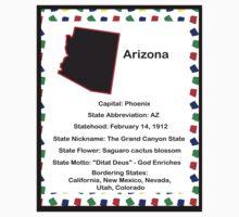 Arizona State Fact Poster Baby Tee