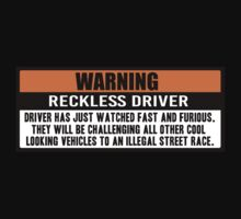 Warning - Fast and Furious Kids Tee