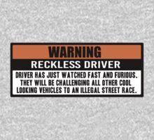 Warning - Fast and Furious Kids Tee